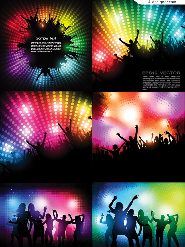 Party fashion People silhouette vector material