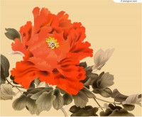 Peony vector material