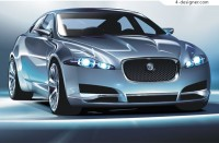 Perfect Jaguar C XF car vector material