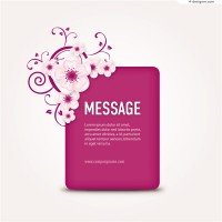 Pink flowers decorative background vector material