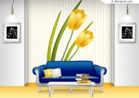 Popular indoor home vector material