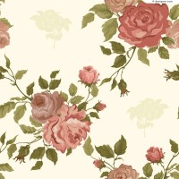 Retro elegant roses background vector material