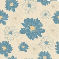 Retro hand painted daisy vector material