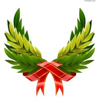 Ribbon leaves wings vector material