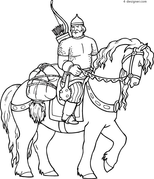 Roman old knight vector material