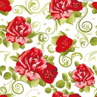 Romantic roses background vector material