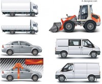 Several cars vector material