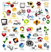 Several fabulous 3D icon design vector materials