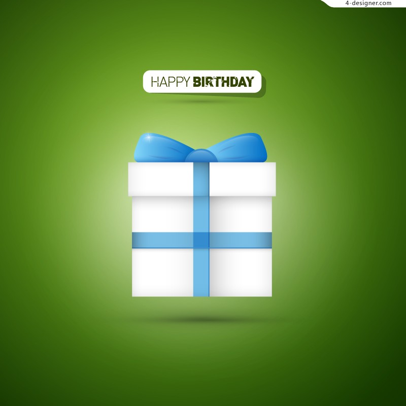 Simple birthday gift icon vector material