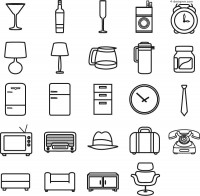 Simple supplies icon vector material