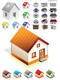 Small house vector material