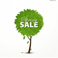 Spring tree sales postervector material