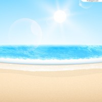 Sunny and Beach vector material