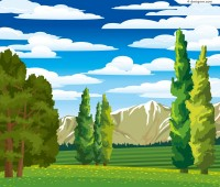 Valley Jungle vector material