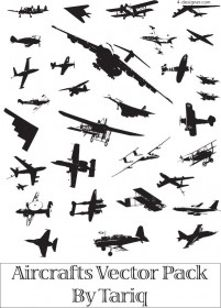 Variety of silhouettes vector material Fighter