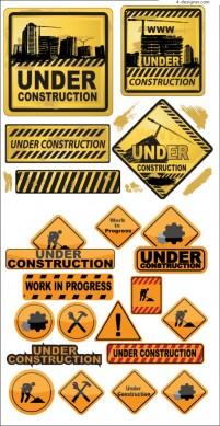 Various construction flag icon vector materials