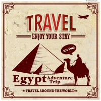 Vintage Egypt Travel Poster vector material