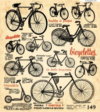 Vintage bicycle posters vector material