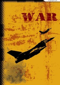War fighter theme vector material