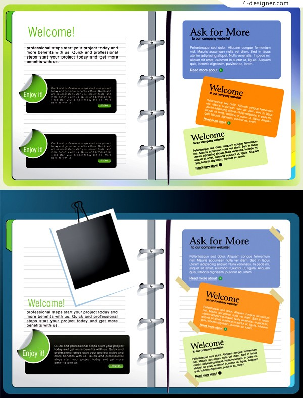 2 diary clippings vector material