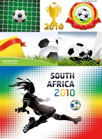 2010 World Cup in South Africa vector material