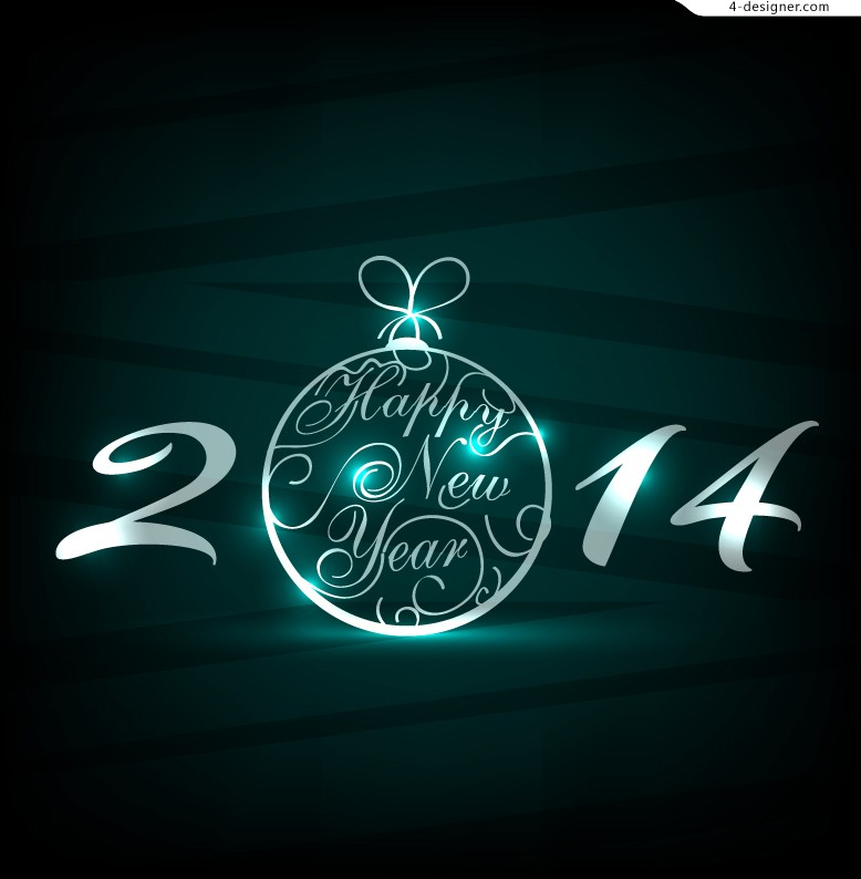 2014 exquisite New Year posters vector material