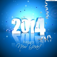 2014 fine New Year background vector material