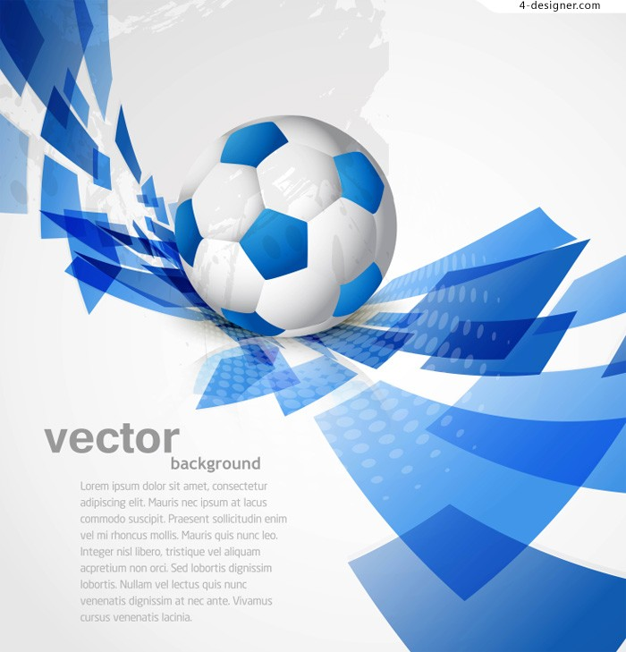 Dynamic soccer background vector material