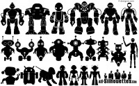 22 the robot silhouette vector material