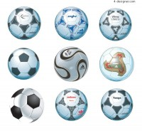 9 AI format ultra realistic and professional football vector materials
