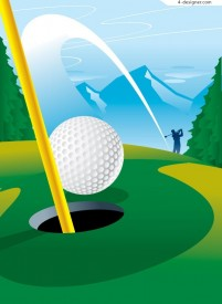 A golf scoring moment vector material