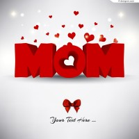Beautiful 3D Mother s Day illustration vector material