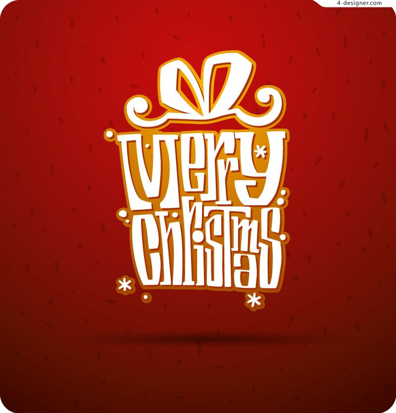 Christmas Gift WordArt posters vector material