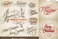 Christmas WordArt design vector material