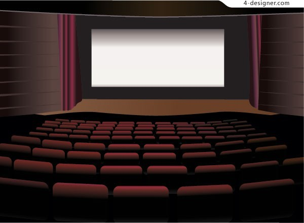 Cinema vector material