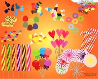 Colorful candy vector material