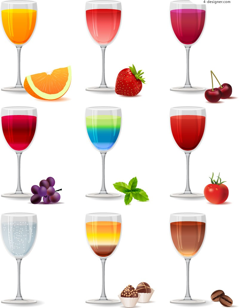 Colorful juice vector material