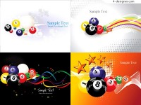 Dynamic Billiard background vector material