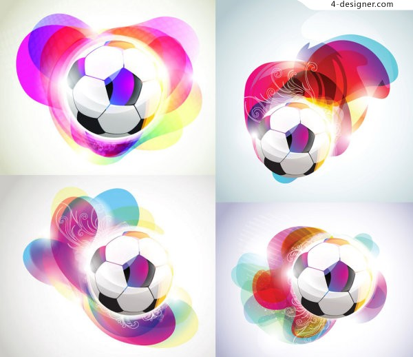 Fashion football vector material