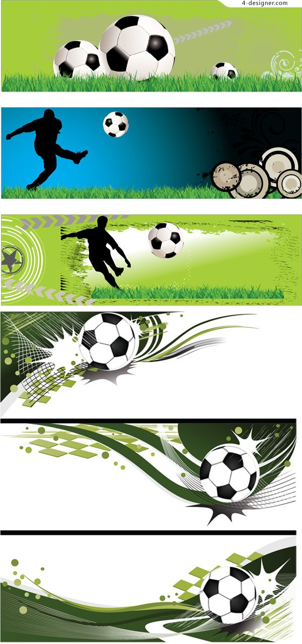 Football elements banner vector material