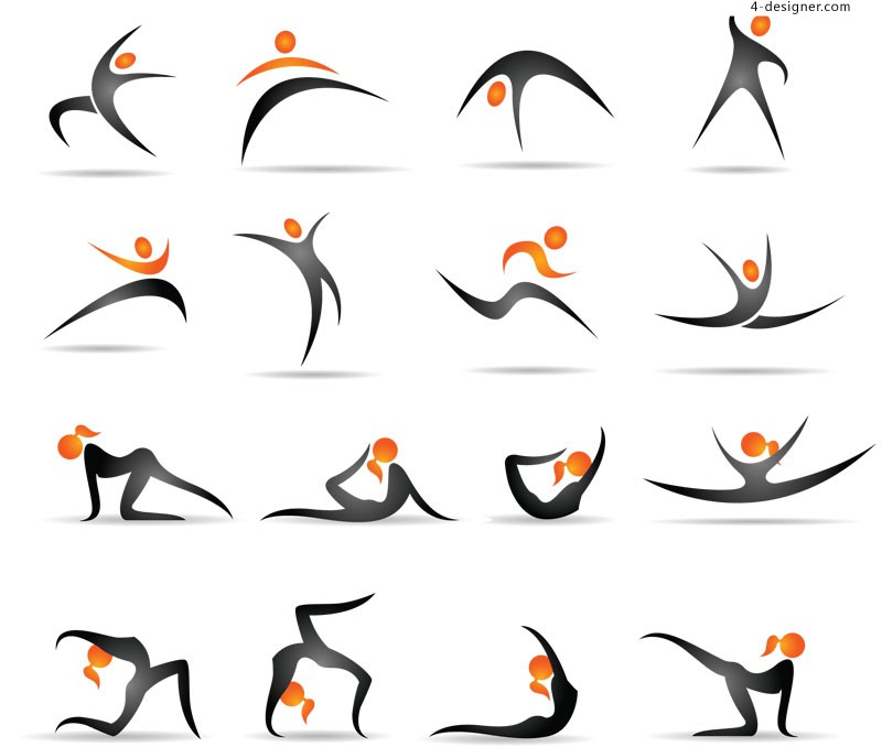 Gymnastics demonstration graph vector material