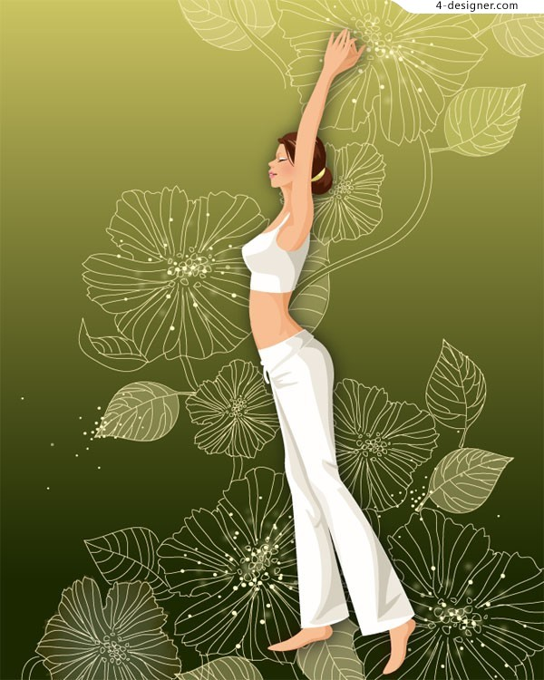 Lifestyle sports beauty vector material