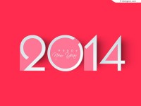 Pink 2014 New Year posters vector material