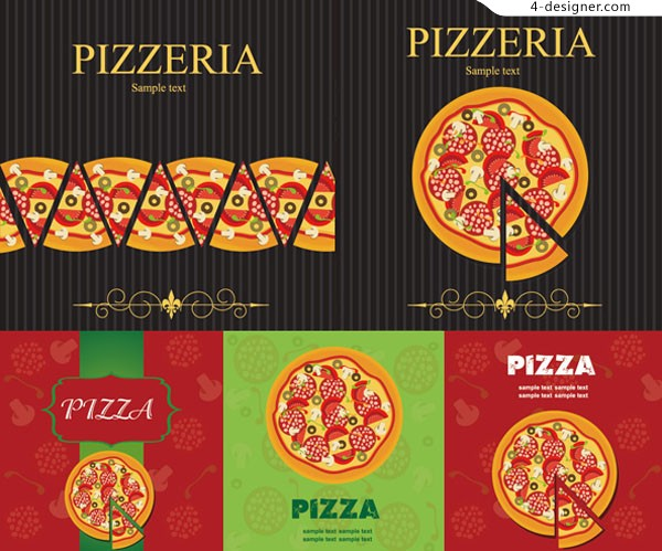 Pizza food vector material