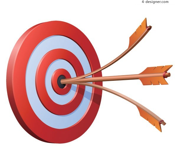 Realistic target and arrow vector material