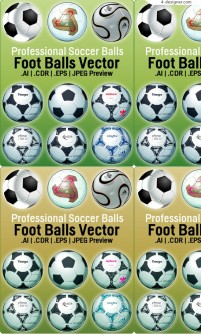 Several kinds of football vector materials