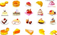 Various vector materials of tempting desserts