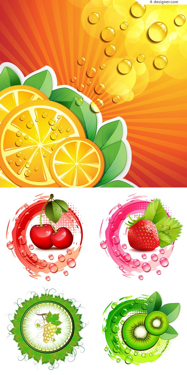 Vector material for designing exquisite fruits