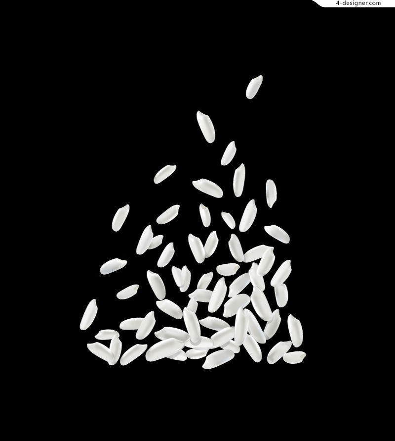 Vector material for designing white rice