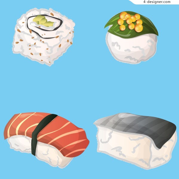 Vector material of Japanese sushi